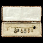 A very fine and attractive European Diplomat's set of six miniature medals to the recipient of aw...