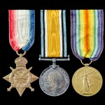 Great War Western Front 1914-1915 trio awarded to Rifleman H.J. Smithers, Rifle Brigade, later La...