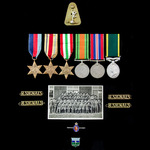 Second World War North Africa and Italy and Territorial long service group awarded to Warrant Off...