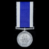 An interesting Royal Navy Long Service and Good Conduct Medal, Victoria wide suspension, awarded ...