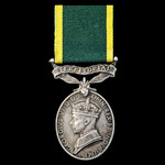 Efficiency Medal, GVI, 1st type bust, Territorial suspension, awarded to a woman, Staff Serjeant ...