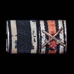 Germany - Imperial: Tunic ribbon bar for a recipient of the Iron Cross 1914 2nd Class, and the Ho...