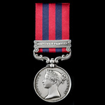 India General Service Medal 1854-1895, 1 Clasp: Northwest Frontier, awarded to Lieutenant later C...