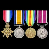 Great War 1914 and Western Front June 1918 Steam Company Army Meritorious Service Medal group awa...