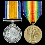 A Great War Casualty Pair to Rifleman G.A. Lea, 1st Battalion, Rifle Brigade who died of wounds o...