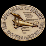 United States of America: Eastern Air Lines 50th Anniversary Commemorative Medallion 1928-1978, o...