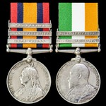 A South Africa Boer War Pair awarded to Corporal W. Steventon, 3rd Battalion, East Kent Regiment ...