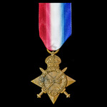 1914-1915 Star awarded to Private J. Fletcher, East Kent Regiment who served on the Western Front...