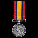 A Queen's South Africa Medal 1899-1902, no clasp, awarded to Private J.H. Holm, Queenstown Town G...