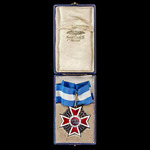 Romania – Order of the Crown of Romania, Commander's 3rd Class neck badge, 2nd type 1932-1947, si...