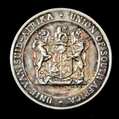 Union of South Africa Second World War 1939-1945 Peace Medal, silver.