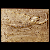 United States of America: Wilbur and Orville Wright 1909 Bronze Plaque Commemorating their being ...