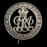 Silver War Badge, reverse numbered '485673' as awarded to Private A.H. Caplin, 4th Regiment, Roya...