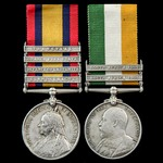 South Africa Boer War Elandslaagte and Defence of Ladysmith pair awarded to Private W.E. Thorne, ...