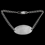 Royal Navy Sterling Silver marked Identity Bracelet of circa 1930's vintage, as worn by Petty Off...