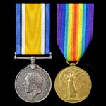 Great War pair awarded to Private S.J. Waite, 12th Battalion, Argyll and Sutherland Highlanders.