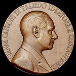 Italy: Commemorative Medallion for the 60th Anniversary of the Italian Aircraft Caproni 1, 27th M...
