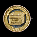 Great War Australia New South Wales War Chest Organisation Fundraising Gold Badge for 1917, 9 car...