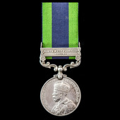 India General Service Medal 1908-1935, 1 Clasp: North West Frontier 1930-31, awarded to Private J...
