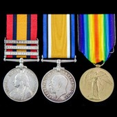 A South Africa Boer War and later Great War group of 3 medals awarded to Private W.J.R. Hall, Cit...