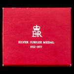 Jubilee Medal 1977, mounted on ladies bow ribbon as issued, housed in its original 'Royal Mint' b...
