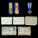 Great War Italian Front group together with a confirmed gazetted Italian War Cross with its origi...