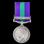 General Service Medal 1918-1962, GVI, 1 Clasp: Palestine 1945-48 awarded to Private V.C. Rees, 16...