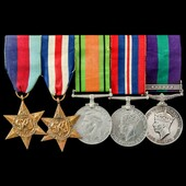 Second World War North West Europe and Malayan Emergency group awarded to Sergeant J. Mason, Roya...
