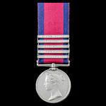 The unique Field Artillery Gunner's clasp combination Military General Service Medal 1793-1814, 5...