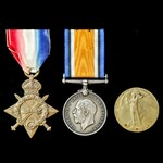 ​  A Great War Australian Battle of the Somme Casualty group awarded to Private E. Burke, 24th Ba...