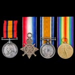 South Africa Boer War gunboat and Great War Atlantic Cruiser operations group awarded to Chief En...