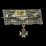 Germany - Imperial: Iron Cross 1914 Patriotic brooch, formed from the driving band of a shell, th...