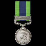 India General Service Medal 1908-1935, 1 Clasp: Burma 1930-32, awarded to Sergeant O.F. Dutton, 2...