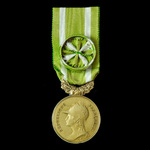 France: Medal of Honour of the Society of Republican Encouragement and Devotion, gilt bronze, wit...