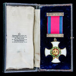Distinguished Service Order, GVI GRI 1st type cypher, reverse of suspension dated 1942, silver-gi...