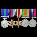 Palestine Arab Rebellion and Second World War Siege of Malta group awarded to Private D. Avis, 2n...