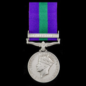 General Service Medal 1918-1962, GVI, 1 Clasp: Palestine awarded to Private S. Robinson, West Yor...