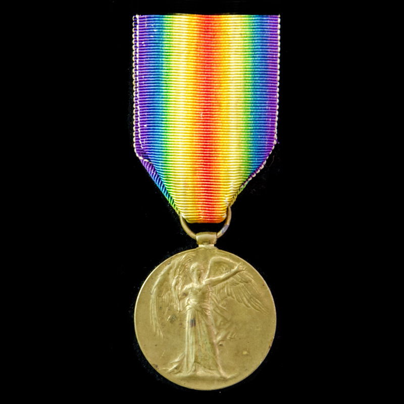 Victory Medal awarded to Sapp.   London Medal Company