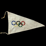 Germany - Third Reich: Berlin Olympics 1936 Pennant. Double-sided pennant with five interlocking ...