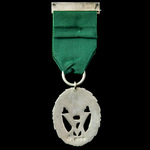 Volunteer Officer's Decoration, VR cypher, with top bar fitting removed to facilitate mounting an...