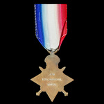 1914-1915 Star awarded to Private P. Anderson, Worcestershire Regiment who served on the Western ...