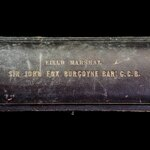 British Army 19th Century 1860's issue Field Marshal's Baton Case by Garrard & Co of London, lid ...