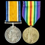 Great War Western Front Casualty pair awarded to Private J. Milnes, 13th Service Battalion, North...