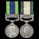 An India General Service Medal pair awarded to Signalman W.L.G. Christian, 1st Indian Divisional ...