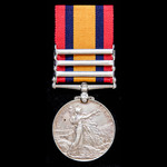 A Queen's South Africa Medal 1899-1902, 3 Clasps: Cape Colony, South Africa 1901, South Africa 19...