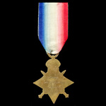 A 1914 Star awarded to Private W.E. Playle, 2nd Battalion, Middlesex Regiment, who was wounded th...