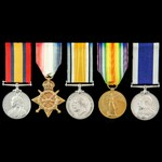 South Africa Boer War and Great War Battle of Jutland and long service group awarded to Engine Ro...