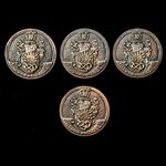 ​  Great Britain: Four Victoria University of Manchester Medallions, awarded to Philip Tindall, w...