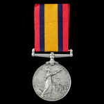 Queen's South Africa Medal 1899-1902, with ghost dates, no clasp, awarded to Private  J. Buchanan...