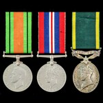 Second World War Home Service and Efficiency Medal group awarded to Craftsman R.A.C. Jenkins, Roy...